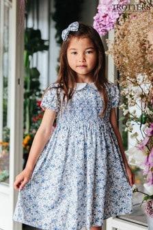 فستان أزرق مجمع Arabella من Trotters London