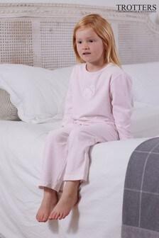 Trotters London Pink Sophia Jersey Pyjamas