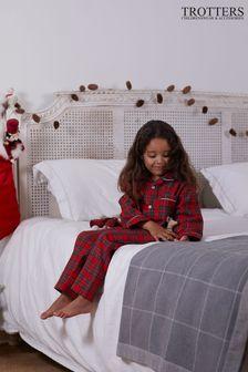 Trotters London Red Cosy Christmas Pyjamas