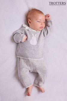 Trotters London Grey Bunny Jumper