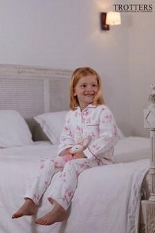 Trotters London Pink Odette Ballerina Pyjamas