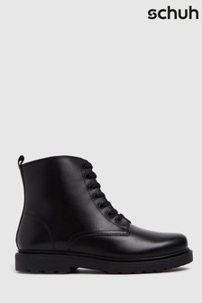 Schuh Kids Black Creator Lace-Up Boots