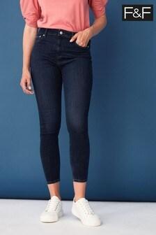 F&F Blue Indigo Contour Jeans