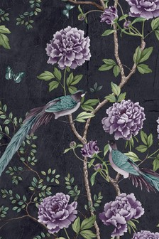Paloma Home Blue Vintage Chinoiserie Wallpaper