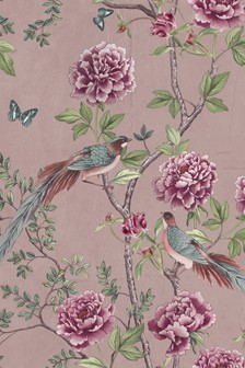 Paloma Home Pink Vintage Chinoiserie Wallpaper