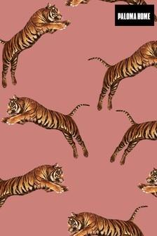 Paloma Home Pink Pouncing Tigers Wallpaper