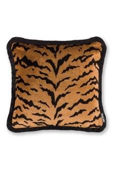 Paloma Home Gold Velvet Tiger Cushion