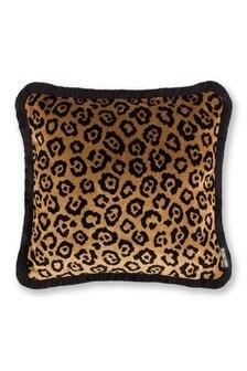 Paloma Home Gold Velvet Leopard Cushion