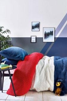 Poszewki na kołdrę i poduszkę z polaru w kolorowe panele