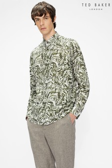 Ted Baker Cellent Ls Animal Print Shirt