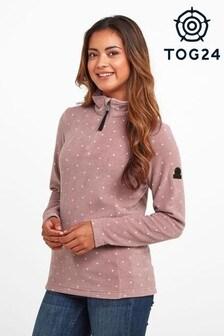 Tog24 Pink Shepley Womens Zip Neck Fleece