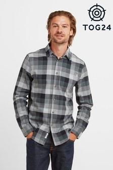 Tog24 Green Elton Mens Long Sleeve Shirt