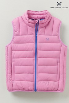 Crew Clothing Company Pink Lightweight Gilet