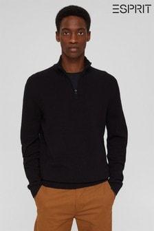 Esprit Mens Black Sweater