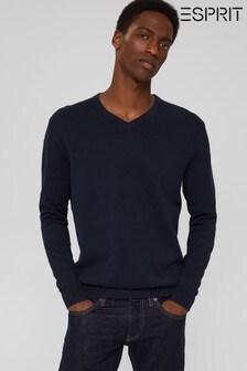 Esprit Mens Blue Sweater