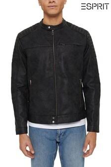 Esprit Mens Black Outdoor Woven Jacket