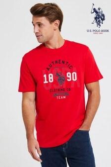 חולצת טי מודפסת של U.S. Polo Assn.