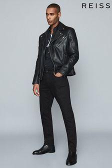 Reiss 黑色 Jet Stay 黑色修身剪裁牛仔褲