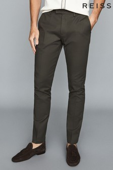 Reiss Green Eastbury Slim Fit Chinos