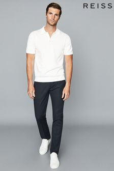 Reiss Navy Eastbury Slim Fit Chinos