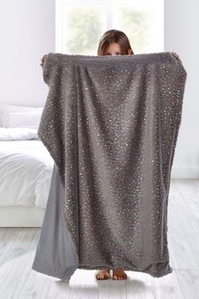 Iridescent Supersoft Faux Fur Throw
