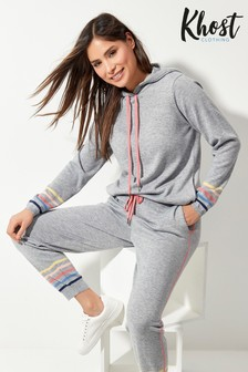 Khost Knitted Multicolour Stripe Hoodie
