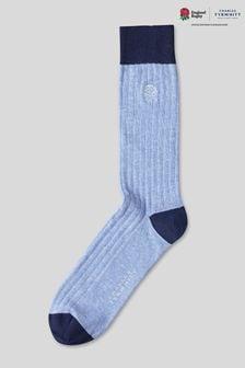 Charles Tyrwhitt England Rugby RFU geribbelde sokken van katoen