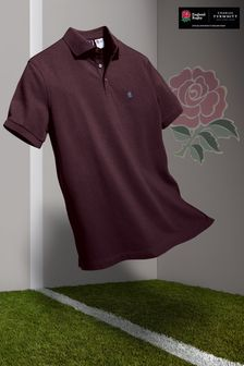 Charles Tyrwhitt England Rugby Rfu Short Sleeve Pique Polo