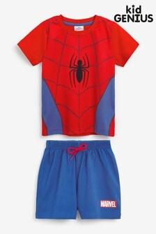 Kid Genius Spiderman Short Sleeve PJ Set
