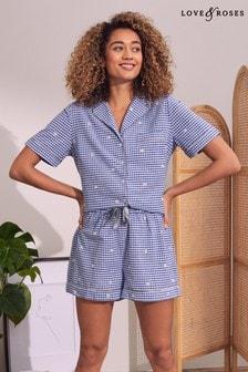 Love & Roses Pyjama Shirt And Short Set