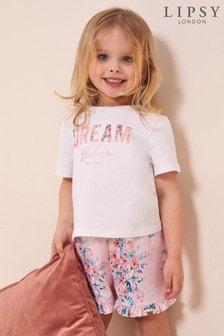 Lipsy Mini Frill Short Pjama Set