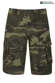 Mountain Warehouse Mens Camo 100% Cotton Lightweight Cargo Shorts