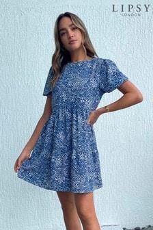 שמלת טוניקה עם שרוולקצר שלLipsy