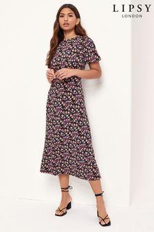Lipsy Short Sleeve Underbust Midi Dress