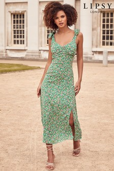 שמלת מידי מודפסת של Lipsy עם דיטייל בכתפיות