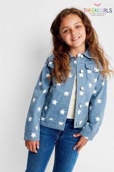 Джинсовая куртка с принтом звезд Threadgirls