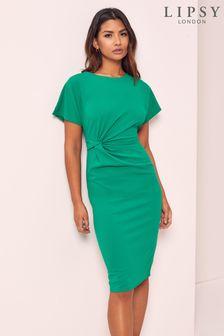 فستانمتوسط الطول بعقدة منLipsy
