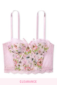 Victoria's Secret Dream Angels Lightly Lined Embroidered Bra Top