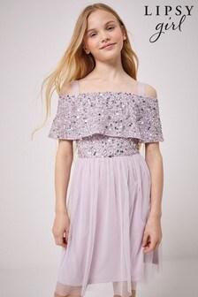 فستان تول بترتر من أعلى بكتف مكشوف منLipsy