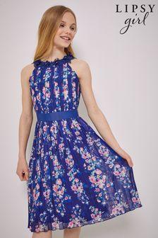 Lipsy Pleated Chiffon Occasion Dress