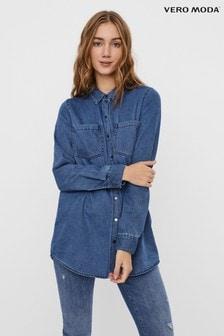 חולצת ג'ינס עם שרוול ארוך של Vero Moda