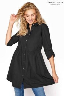 חולצת כותנה מתרחבת של Long Tall Sally לגבוהות