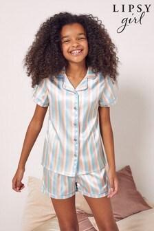Lipsy Satin Pyjama Set