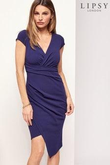 Lipsy Asymmetric Hem Bodycon Dress