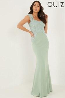 Quiz Glitter Lace Maxi Dress