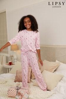 Lipsy Long Sleeve Christmas Pyjama Set