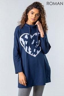 Roman Camo Heart Hooded Lounge Sweatshirt