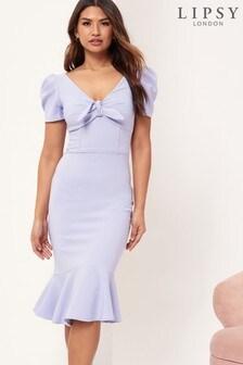 Lipsy Tie Front Midi Dress