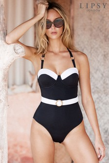 Lipsy Belted Mono Swimsuit