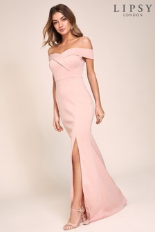 Lipsy Bardot Scuba Maxi Dresss